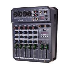 Muslady 6 Kanal Soundkarte Mischpult Audio Mixer Eingebauter 48V Phantomspeisung