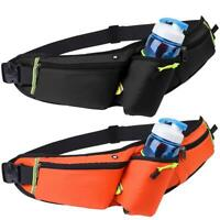 Waterproof Nylon Sport Water Bottle Waist Belt Bum Pouch Fanny Pack Camping Bag