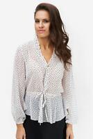 NA-KD - Bluse Damen V-Ausschnitt semitransparent elegant weiß NEU: 29 €