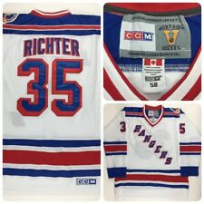 Official Vintage NHL CCM NY Rangers RICHTER 58 Stanley Cup Jersey Made Canada