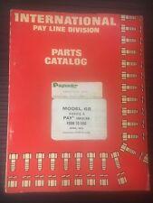 PAYHAULER MODEL 65 - SERIES B - PARTS MANUAL
