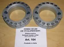 Honda CB175 CB200 Cappellini #164 pair alloy racing exhaust cooling rings - 54mm
