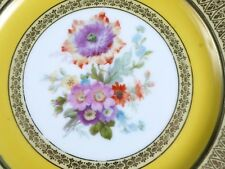 Bavaria Tirschenreuth Porcelain Heavy Decorated Cabinet Dinner Plate Vintage