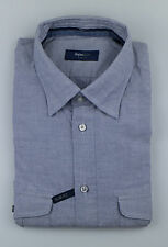 New. ZEGNA SPORT Blue Cotton Casual Button Down Slim Fit Shirt XXXL $285
