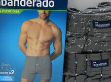 Pack de 2 Boxer trunks sueltos abiertos punto Abanderado  algodón 100%