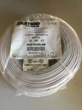 22/2 (22AWG 2C) Stranded CM Security Cable, White, 500 ft, Coil Pack