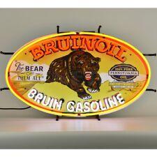 "Bruinoil Bruin Gasoline Man Cave Neon Light Sign 30""x18"""
