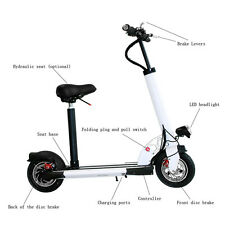AGDA®BRAND NEW 400WATT 36V ELECTRIC SCOOTER BIKE White with Suitable Seat