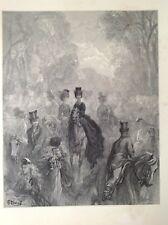 La Milla por Gustave Dore, Damas 1872 Original Antigua de impresión, Londres, Raro