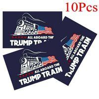 10Pcs Donald Trump Exterior Car Bumper Sticker 2020 All Aboard The Trump Train