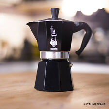 BIALETTI Moka Express Espressokocher schwarz black 6 Tassen - 100% Made in Italy