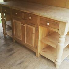 amish made reclaimed barn wood unfinished 6 u0027 kitchen island custom built handmade kitchen islands  u0026 carts   ebay  rh   ebay com