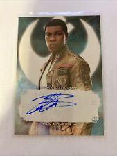 Star Wars The Last Jedi Series 2 John Boyega 'Finn' Autograph Auto Card A-Jb