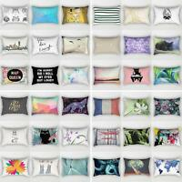 Sofa Car Waist Throw Pillowcases Rectangle Cushion Cover Home Bed Decor Comely
