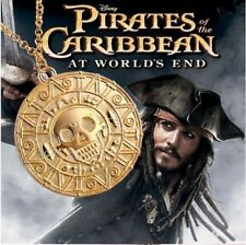 Pirates Of The Caribbean, Jack Sparrow, Gold Coin, Pendant & Chain Two Piece Set