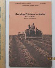 growing potatoes in maine - paul n mosher