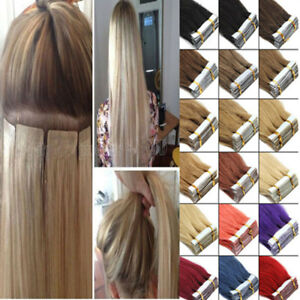 Seamless Tape In Skin Weft 100% Remy Human Hair Extensions 16 Inch-26 Inch 20Pcs