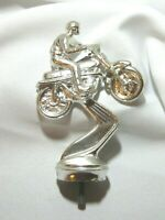 "Vintage Metal Motorcycle Racing Trophy Top-3"" x 4"" tall"