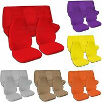 Jeep Wrangler YJ/TJ/JK 1987-2017 Solid Color Seat Covers Full Set Front & Rear