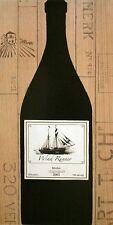 Marco Fabiano: Pinot Silhouette Küche Fertig-Bild 25x50 Wandbild Wein
