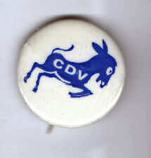 1972 pin McGOVERN Anti VIETNAM WAR PEACE Campaign pinback CDV DONKEY