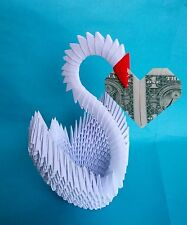 Hand-made 3D Origami Swan - Great for Wedding, Bridal Shower !!!
