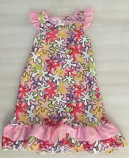 NWT Laura Dare Toddler Girls Boutique Pink Puzzle Flutter Gown Size 3T