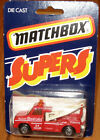 RARE SUPERS CARD Matchbox Superfast #61 Wreck Tow Truck Radio 24 Hour Towing