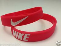Nike Sport Baller Band Red w/wht Silicone Rubber Bracelet Wristband