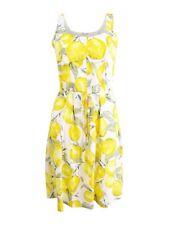 Pappagallo Womens Lemon Yellow Eyelet Mini Daytime Sundress 16 BHFO 2810