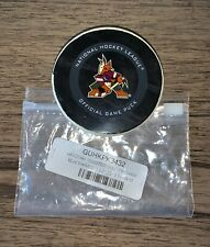 Chicago Blackhawks vs. Arizona Coyotes Game Used Puck Kachina 12/12/19 Fanatics