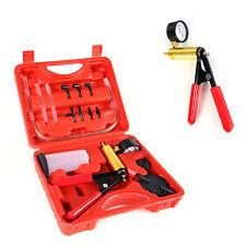 Hand Held Brake Bleeder Vacuum Pump Tester Tool Kit w/ Adapters Car Motor