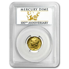 2016-W 1/10 oz Gold Mercury Dime SP-70 PCGS (FS) - SKU #95510