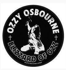 Ozzy Osbourne Blizzard Of Ozz Woven Patch O011P Metallica Black Sabbath