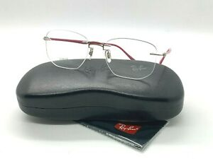 NEW RAY BAN EYEGLASSES RB  8757 1195 SILVER/PINK 51-18-140MM / CASE