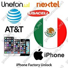 AT&T MEXICO iPhone 5  5s  5c  UNLOCK CODE Iusacell Nextel Unefon - SUPER FAST
