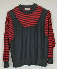 Sonia Rykiel Striped Sweater, Black/Red, Women's Small