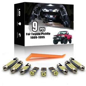 9x For Toyota Pickup Pick Up 1989-1995 Car Interior LED Lighting Kit + TOOL