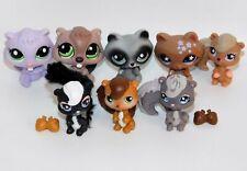 Lot 8 Littlest Pet Shop Figures Raccoons Beavers Squirrels Skunks 543 641 196+