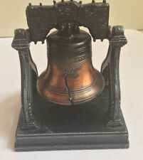 Cast Metal Liberty Bell Ringer Pennsylvania Souvenir Penncraft Stand