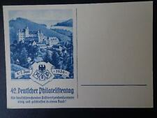 GERMANY WW2 3 RD REICH POSTCARD COLOR CACHETED 1936 CASTLE LAUENSTEIN UNUSED