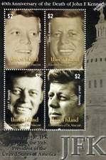 US President JFK / JOHN FITZGERALD KENNEDY MNH Stamp Sheet (2003 Union Island)