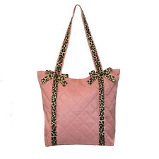 Dance Bag Tote Girls Pink Leopard Trim NWT