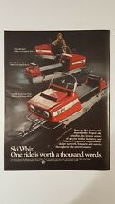 Vintage Original 1970 Massey Ferguson Ski Whiz Snowmachine ad advertisement