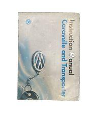 Volkswagen T4 Transporter/Caravelle/Multivan Owners Handbook/Manual and Wallet