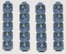 LEGO LOT OF 20 NEW SAND BLUE CHIMA MINIFIGURE MONSTER HEADS PIECES