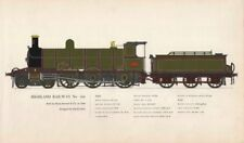 Highland Railway locomotive #103. Sharp Stewart 1894. David Jones 1958 print