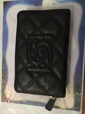 Bebe Black Zip Around Wrislet Clutch  Bag -
