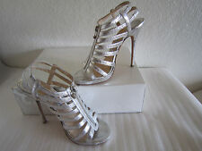 Jimmy Choo GLENYS Zip Up Metalic Silver  Gladiator Boot Sandals  39 US 8.5 $995