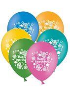 """Happy Retirement - Stars & Swirls - 12"""" Printed Latex Balloons Assorted 5 ct"""